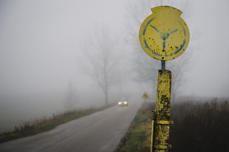 foggy day eastern poland