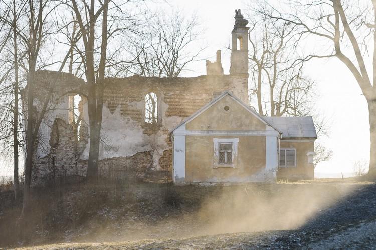 Church ruins, easter poland